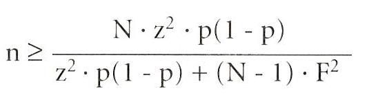 steekproef formule eindige populatie